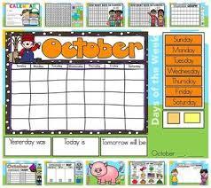 Number Of The Week Flip Chart Interactive Kindergarten Calendar October For Promethean