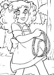 Candy Candy Lasso Anime Coloring Pages