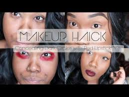 03 51 how to conceal under eye bags and dark circles with red lipstick