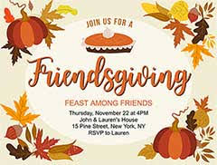 Free Online Thanksgiving Invitations Free Thanksgiving Invitation Templates Customize Share