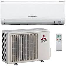 split air conditioning system. 12,000 btu 23.1 seer mitsubishi single zone ductless mini split air conditioning system
