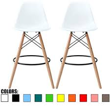 eames bar stool. Perfect Eames 2xhome Set Of Two 2  White 28u0026quot Seat Height Eames Chair To Bar Stool