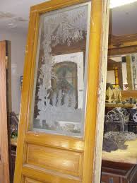 fl etched glass door