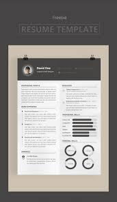 Free Modern And Simple Resume Cv Psd Template 100 Free Resume Templates Psd Word Utemplates
