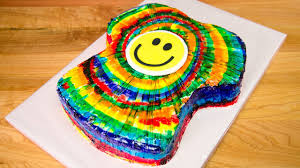 Tie Dye Birthday Cake Designs T Shirt Shaped Rainbow Tie Dye Cake From Cookies Cupcakes And Cardio