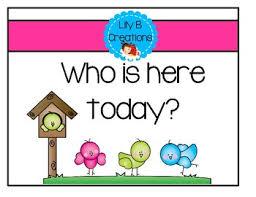 Whos Here Today Chart Who Is Here Today Worksheets Teaching Resources Tpt
