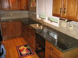 brown cabinets with white subway tile backsplash a62 brown
