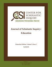 Cstp Chart 2018 Journal Of Scholastic Inquiry Education Fall 2018 By