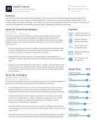 Visual Ux Designer Resume Templates At Allbusinesstemplatescom