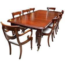 mahogany dining table furniture set and chairs antique solid round room small kitchen large side tablecloth r