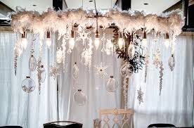 dazzling dining room chandelier captures the snowy charm of holiday season perfectly design mindi