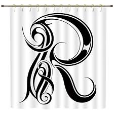 Goth Interior Design Adorable Amazon IPrint Shower CurtainLetter RGothic Medieval Inspired