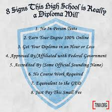eight signs this high school is really a diploma mill truth in  diploma mill list