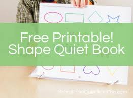 free printable shape quiet book