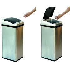 striking gallon kitchen trash can home depot trash cans stainless