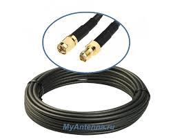 <b>Кабельная сборка</b> (<b>удлинитель</b>) SMA(male) - SMA(female) кабель ...