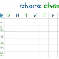Printable Chore Chart Template Ender Realtypark Co
