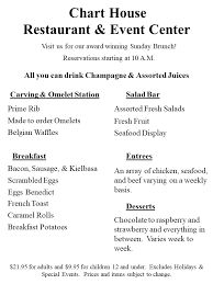 Chart House Easter Brunch Menu 45 Rigorous Chart House Brunch Buffet