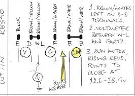 rb340 voltage regulator adjustment for rookies page 1 the this is misleadingly labelled as a cut out relay on some diagrams first the brown whites go back on their b b terminals and the voltmeter goes between the