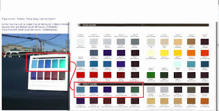 Dupont Color Chart For Cars Dupont Metallic Paint Color Chart Best Picture Of Chart