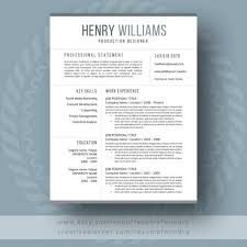 modern resume template the henry easy to use resume templates