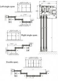 glass automatic telescopic sliding door