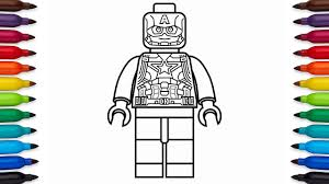Small Picture How to draw Lego Captain America Marvel Superheroes coloring