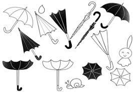 傘の無料イラスト白黒手書き簡単リアル じゃぱねすくライフ