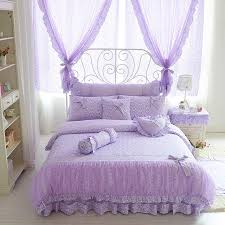 bedroom sets for girls purple. Brilliant Sets Cotton Lace Purple Floral Bedding Set Twin Queen King Size Adults Girls  Kids Bed 4 And Bedroom Sets For Girls Purple I