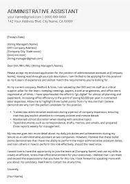Rsume Cover Letter Administrative Assistant Cover Letter Example Tips