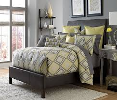 gray and yellow bedding. Contemporary Yellow Society Row Bedding Set In Grey With Gray And Yellow S
