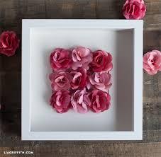 diy paper art roses paper rose art on paper flower wall art tutorial with mini paper rose framed artwork lia griffith
