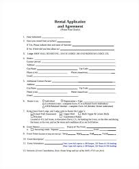 Sample Rental Agreement Forms Hall Rental Agreement Room And Board ...