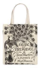 pride and prejudice tote bag out of print foyles bookstore pride and prejudice tote bag