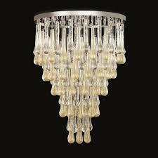 italian modern chandeliers italian modern murano glass chandelier or flush mount for