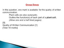 recognise cell structures under the electron microscope iuml plusmn outline group essay in this question one mark is available for the quality of written communication