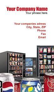 Vending Machine Company Names Unique Vending Business Cards Vending Service Cards Vending Machine Cards