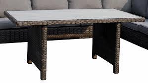 Sitzecke Madison Set Mit Tisch Polyrattan Grau Braun
