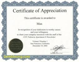 Sample Of Appreciation Certificates Fresh 6 Best Images Of Sample Appreciation Certificates Best