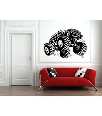 monster truck as wall decal boys
