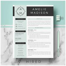Contemporary Resume Templates Free Fabulous Hired Design