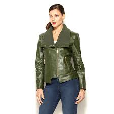 iman global chic leather knit moto jacket 4 colors