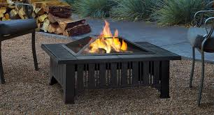 wood burning patio fire pits. Enhance The Atmopsphere Of Your Outdoor Living Space With Lafayette Fire Pit. Classic Styling And Neutral Gray Tile Top Bring Functional Wood Burning Patio Pits Y
