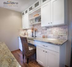 office countertops. Countertops \u0026 Backsplash Ice White Shaker Kitchen Cabinets Desk Office In Columbus Ohio Built By SemBroDesigns