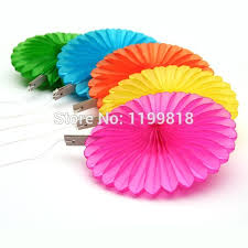 500pcs lot 14inch wedding centerpieces decor honeycomb tissue paper fan birthday party supplies handmade flower