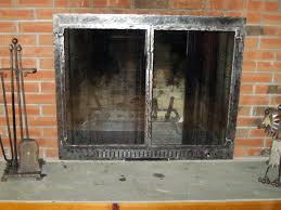 image of fireplace glass doors design