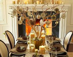 christmas table dressing ideas. Tree Branch Centerpieces For Dining Table Combined Fireplace Mantle. Turn Wedding Centerpiece Into Xmas Christmas Dressing Ideas