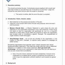 Business Plan Template For Restaurant Valid Simple Executive Summary ...