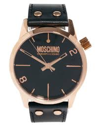 moschino cheap and chic ladies watch leather strap and rose gallery