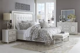 white bedroom furniture king. Whote Modern Bedroom Sets With Attractive Silver Floral Printed Bedcover Motif Deisgn Ideas: Full White Furniture King C